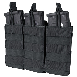 AR / M4 TRIPLE OPEN-TOP MAG POUCH - BLACK