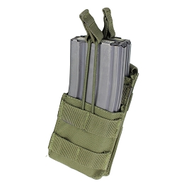 AR / M4 SINGLE OPEN-TOP STACKER MAG POUCH - OLIVE DRAB