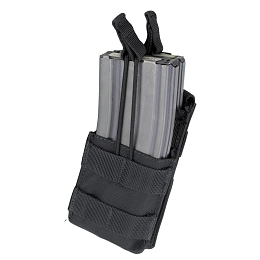 AR / M4 SINGLE OPEN-TOP STACKER MAG POUCH - BLACK