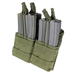 AR / M4 DOUBLE OPEN-TOP STACKER MAG POUCH - OLIVE DRAB