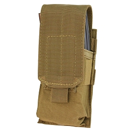 AR / M4 SINGLE STACKER MAG POUCH - COYOTE BROWN