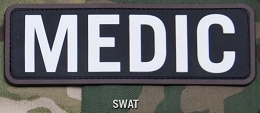 MEDIC 6 x 2 PVC PATCH - SWAT