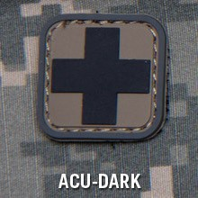 MEDIC SQUARE 1'' PVC PATCH - ACU-DARK