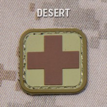 MEDIC SQUARE 1'' PVC PATCH - DESERT