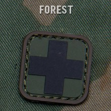 MEDIC SQUARE 1'' PVC PATCH - FOREST