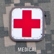 MEDIC SQUARE 1'' PVC PATCH - MEDICAL