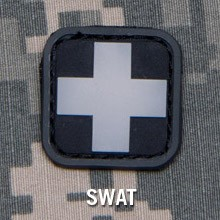MEDIC SQUARE 1'' PVC PATCH - SWAT