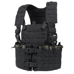 MODULAR CHEST SET WITH HYDRATION CARRIER - BLACK