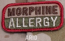 MORPHINE ALLERGY PATCH - ARID