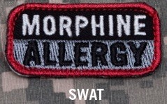 MORPHINE ALLERGY PATCH - SWAT