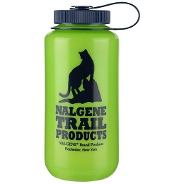 NALGENE 1 LITRE / 32 OZ. WIDE MOUTH BPA FREE WATER BOTTLE - HDPE GREEN