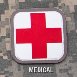 MEDIC SQUARE 2'' PVC PATCH - MEDICAL