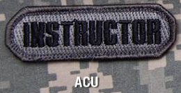 INSTRUCTOR PATCH - ACU-DARK