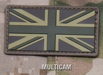 BRITISH FLAG (UNION JACK) PVC PATCH - MULTICAM