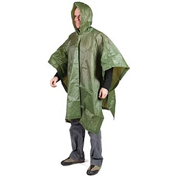 LIGHT WEIGHT PONCHO - GREEN