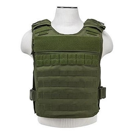 PLATE CARRIER WITH INTERNAL AND EXTERNAL POCKETS - GREEN (M-2XL)