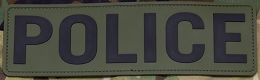 POLICE PVC PATCH 10''x3'' - OD-GREEN