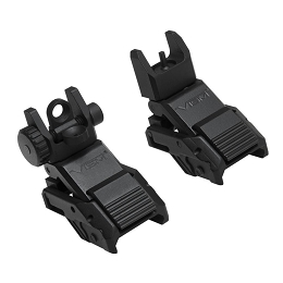 PRO SERIES FLIP-UP FRONT AND REAR SIGHTS COMBO - PICATINNY MOUNT