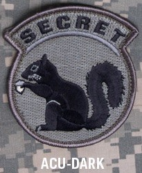 SECRET SQUIRREL PATCH - ACU-DARK