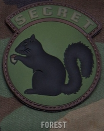 SECRET SQUIRREL PVC PATCH - FOREST