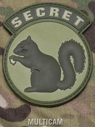 SECRET SQUIRREL PVC PATCH - MULTICAM