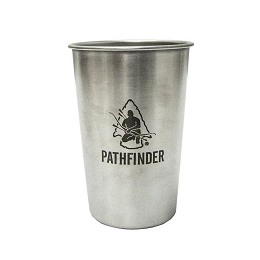 STAINLESS STEEL 16 OZ PINT - PATHFINDER