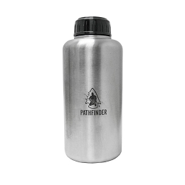 STAINLESS STEEL 64 OZ (1.9 LITRES) WIDEMOUTH WATER BOTTLE - PATHFINDER