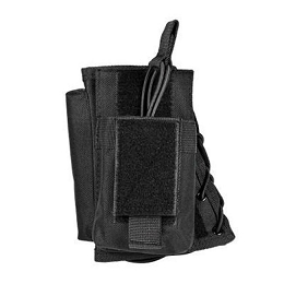 STOCK RISER WITH SINGLE MAG POUCH - BLACK