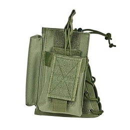 STOCK RISER WITH SINGLE MAG POUCH - GREEN