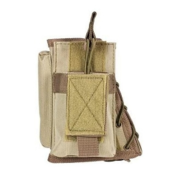 STOCK RISER WITH SINGLE MAG POUCH - TAN