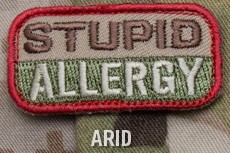 STUPID ALLERGY PATCH - ARID