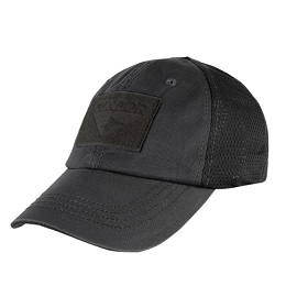TACTICAL CAP, MESH BACK - BLACK