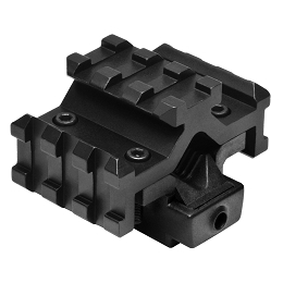 TACTICAL RED LASER SIGHT WITH UNIVERSAL TRI-RAIL BARREL MOUNT - BLACK