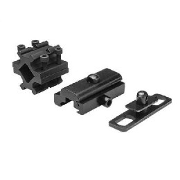 PRECISION GRADE BIPOD, COMPACT, NOTCHED - 3 MOUNT ADAPTERS