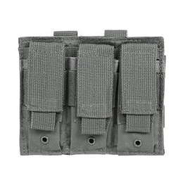 TRIPLE PISTOL MAG POUCH - URBAN GRAY