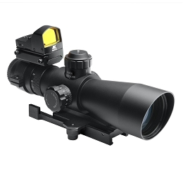 ULTIMATE SIGHTING SYSTEM - GEN II 3-9X42 P4 SNIPER SCOPE WITH MICRO RED DOT SIGHT