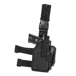 UNIVERSAL DROP LEG HOLSTER - BLACK (2954)