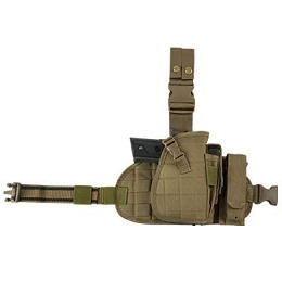 UNIVERSAL DROP LEG PANEL, HOLSTER, MAG POUCHES COMBO - TAN (2956)