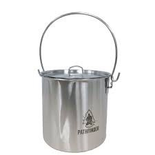 STAINLESS STEEL 64 OZ BUSH POT AND LID SET - PATHFINDER