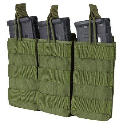 AR/M4 TRIPLE OPEN-TOP MAG POUCH - OLIVE DRAB